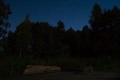 Strand bij Nacht stock foto's