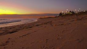 Strand bij Nacht Royalty-vrije Stock Fotografie