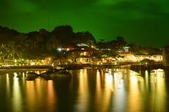 Strand bij nacht Koh Nang Yuan, Thailand Royalty-vrije Stock Fotografie