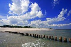 Strand bij Oostzee Stock Afbeeldingen
