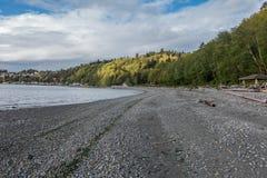 Strand bij Seahurst-Park stock afbeeldingen