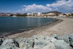 Strand bij St Raphael, Cyprus Stock Afbeelding