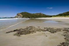 De Baai van Tapotupotu, Kaap Reinga, Nieuw Zeeland Royalty-vrije Stock Fotografie