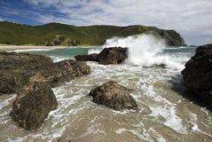 De Baai van Tapotupotu, Kaap Reinga, Nieuw Zeeland Stock Fotografie
