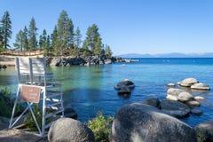 Strand bij Zandhaven in Meer Tahoe royalty-vrije stock afbeelding