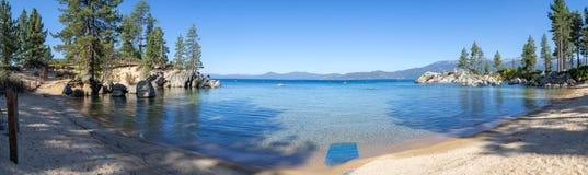 Strand bij Zandhaven in Meer Tahoe stock fotografie