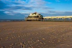 Strand in Blankenberge, België Stock Foto