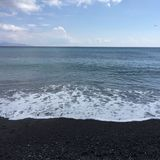 Strand blaue Santorini-SteinUrlaubsreise Lizenzfreies Stockfoto