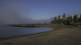 Strand in blauw Royalty-vrije Stock Foto