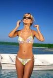 Strand blond Stockbild