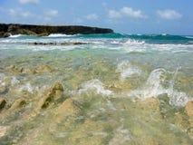 Strand Bonaire Arkivbild