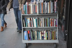 Strand book store, outside book display cart Stock Images
