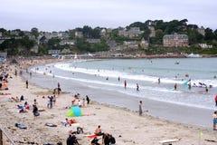 Strand in Bretagne Stock Afbeeldingen