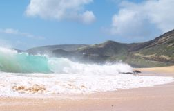 Strand-Bruch Sandys-Rohr-Recht Lizenzfreies Stockfoto