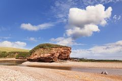 Strand in Budleigh Salterton Devon het UK royalty-vrije stock foto's