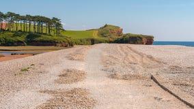 Strand Budleigh Salterton, Juraküste, Devon, Großbritannien lizenzfreie stockfotografie