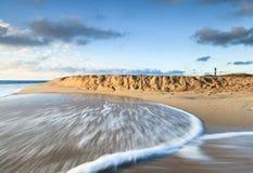 Strand Buitenbanken Als achtergrond Noord-Carolina Royalty-vrije Stock Foto