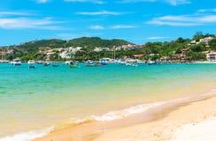 Strand in Buzios, Rio de Janeiro Stock Afbeelding