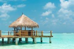Strand cabana Royalty-vrije Stock Afbeeldingen