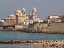 strand cadiz Royaltyfri Foto