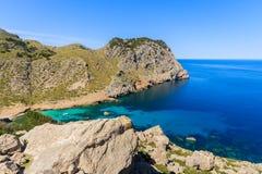 Strand in Cala Figuera, Majorca-eiland Stock Fotografie