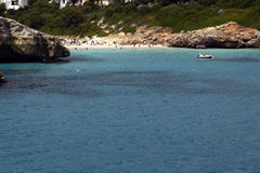 Strand Cala-Mandia in Mallorca Stockfoto