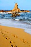 Strand Cala-Pregonda in Menorca Lizenzfreies Stockbild