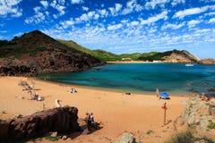 Strand Cala-Pregonda in Menorca stockbild