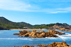 Strand Cala-Pregonda in Menorca Spanien Stockfoto