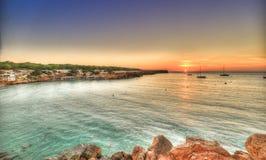 Strand Cala-Saona in Formentera lizenzfreie stockfotos