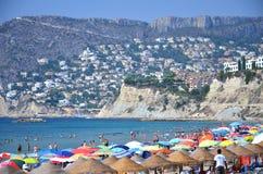 Strand in Calpe, Spanien Stockbild