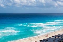 strand cancun Arkivfoto