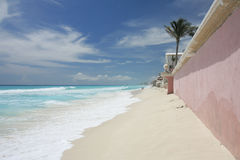 Strand in Cancun Stock Afbeeldingen
