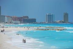 Strand in cancun Mexico royalty-vrije stock afbeeldingen