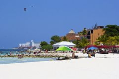 Strand in Cancun, Mexiko Stockbild