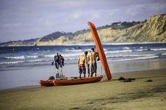 Strand Canoeing Lizenzfreies Stockfoto