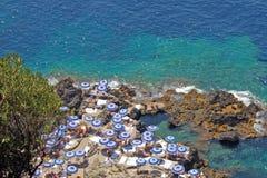 Strand in Capri Stock Foto's