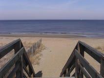Strand am Chesapeake-Schacht lizenzfreies stockfoto