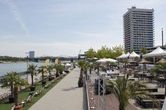 Strand chillout gebied Royalty-vrije Stock Foto's