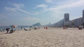 strand copacabana de janeiro rio Arkivfoto