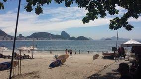 strand copacabana de janeiro rio Arkivbild