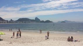 strand copacabana de janeiro rio Royaltyfri Foto