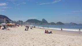 strand copacabana de janeiro rio Royaltyfri Fotografi