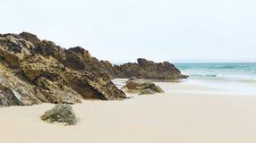 Strand Cornwall England för St Agnes Royaltyfri Fotografi