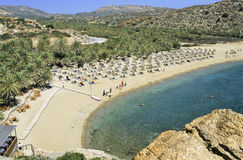 strand crete arkivbild