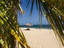 Strand in Cuba Royalty-vrije Stock Foto