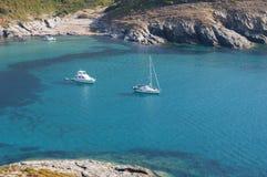Strand D ` Alisu, strand, Haute-Corse, Kaap Corse, Corsica, Hoger Corsica, Frankrijk, Europa, eiland stock foto's