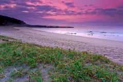 Strand, de dageraad van Stock Afbeeldingen
