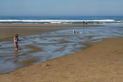 Strand, de Kust van Oregon royalty-vrije stock foto