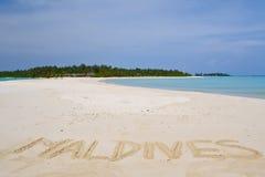 Strand in de Maldiven Stock Foto